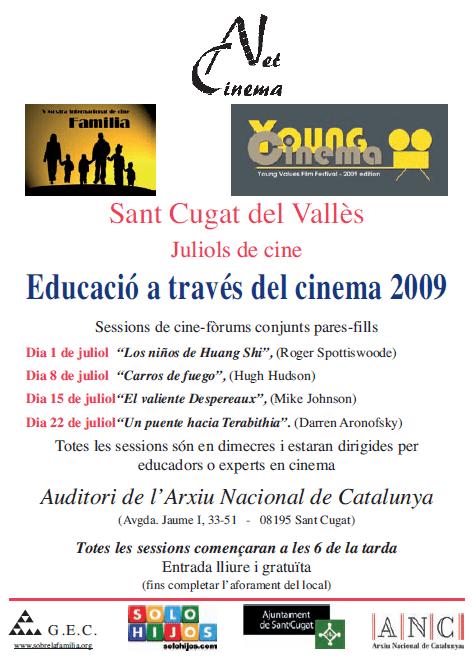 Educació a través del Cinema 2009