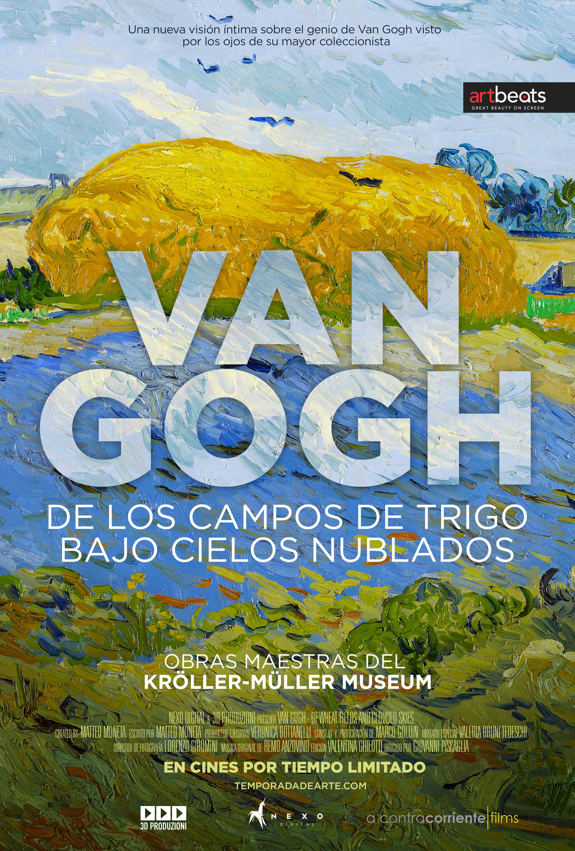 Van Gogh, de los campos de trigo bajo cielos nublados